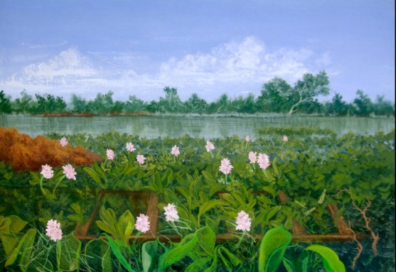 Epe water hyacinth - A Painting by Sola Otori