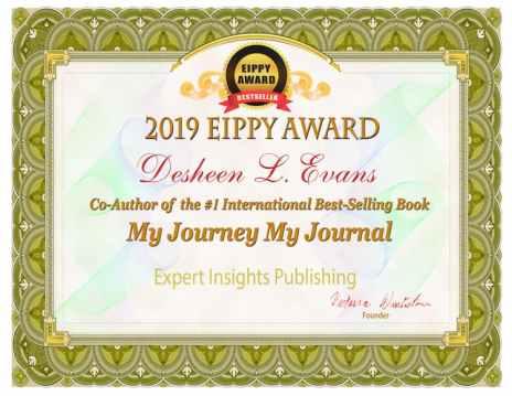 Desheen L. Evans Certificate My Journey My Journal