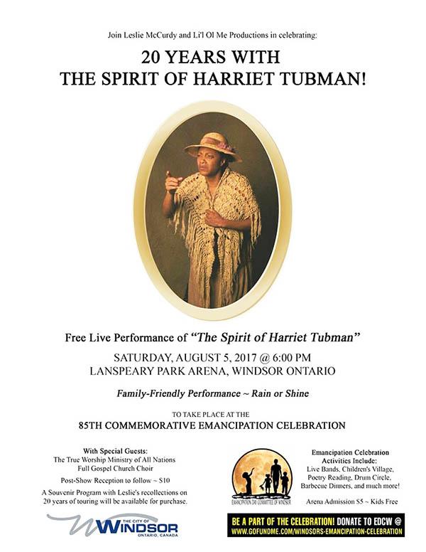 the spirit of harriet tubman 20 year celebration performance