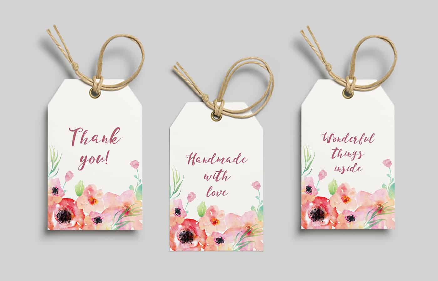 Free Printable Watercolor Flower T Tags From