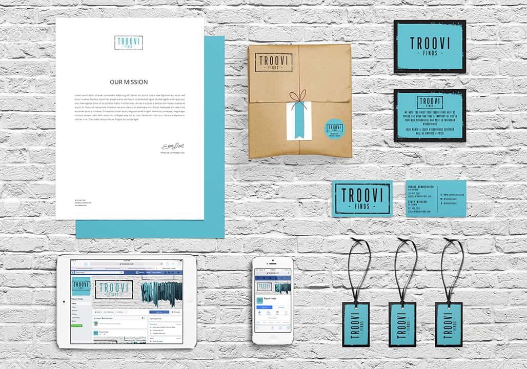 Troovi FInds Branding Design Mockup - Eyestigmatic Design