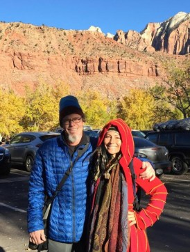 e and my ex-husband after hiking Zion
