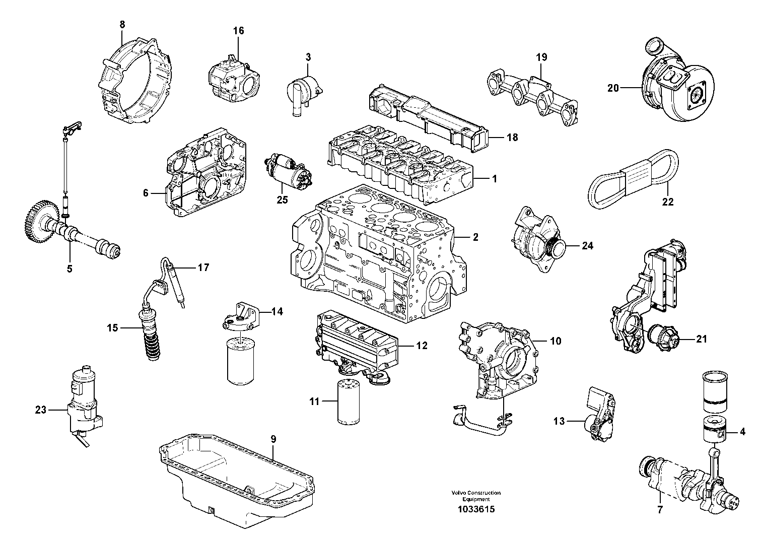 Volvo Backhoe Loader Engine Spare Parts