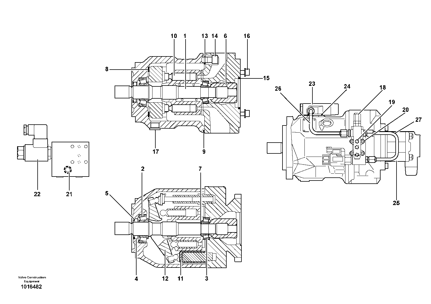 Volvo Backhoe Loader Hydraulic Pump Spare Parts