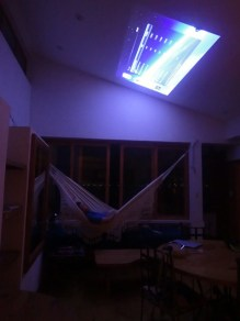 Ceiling viewing from the hammock