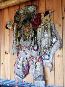 Traditional Guatemala festival dress (hanging in the bar)