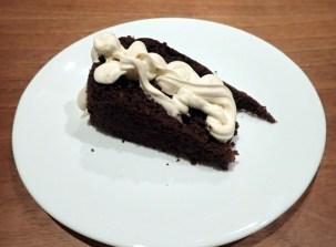 Slice of cake with cream
