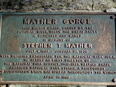 Mather Gorge sign