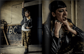 Punk Rock photo shoot published in Rebelicious Magazine Issue 36 pages 31-37 Model: Ellie Zogia Hair: The Salon Makeup: Madison Mah Stylist: Erin Harder Photography: Eyoälha Baker Art Photography Most clothing supplied by Mine & Yours Jewellery: Shereen de Rousseau and Spirit Shards See full credits in magazine http://issuu.com/rebeliciousmagazi…/docs/rebelicious_issue36