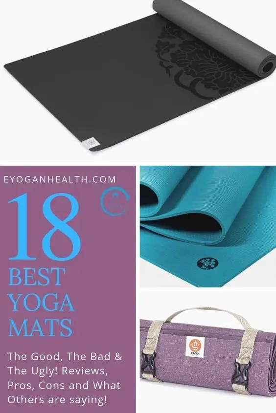 Looking for a yoga mat? Discover the Best 18 Yoga Mats online now. Detailed reviews with pros, cons, price and other's opinions. Read More on Yoga Blog, Yoga Mat, Best Yoga Mat, Yoga mat for beginners, yoga mat brands, jade, manduka, hugger mugger, rumi and more. #yogamat #yoga #bestyogamat yoga for beginners, yoga inspiration, yoga for weightloss, yoga lifestyle #yogafitness #yogainspiration #yogabenefits #yogaweightloss