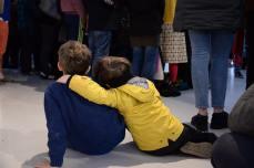 Children, during Ceara Conway's performance. Photo: Shane Serrano.