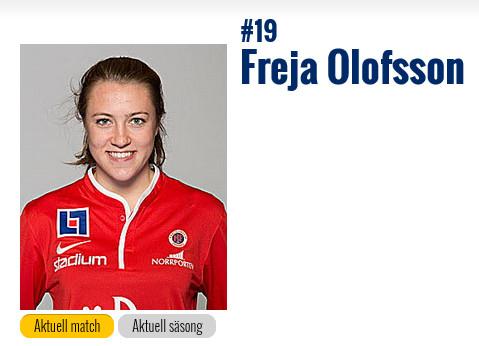 Freja Olofsson har nu gjort sin allsvenska debut.
