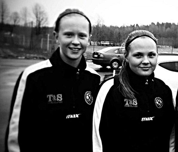 Emma Östlund och Agnes Andersson (Foto: ÖSK Söder Dam).