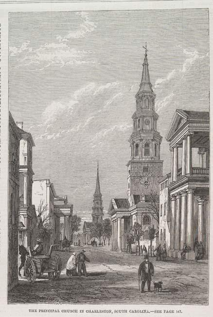 'The Principal Church in Charleston, South Carolina' by Eyre Crowe (1861)