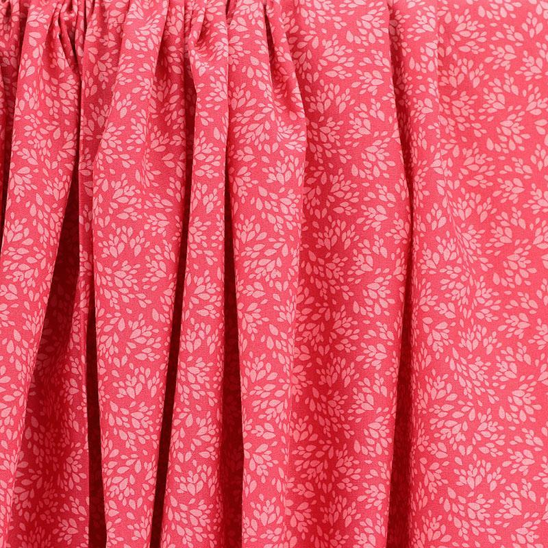 Tissu coton imprimé popeline Jenna rose framboise © Eyrelles Tissus