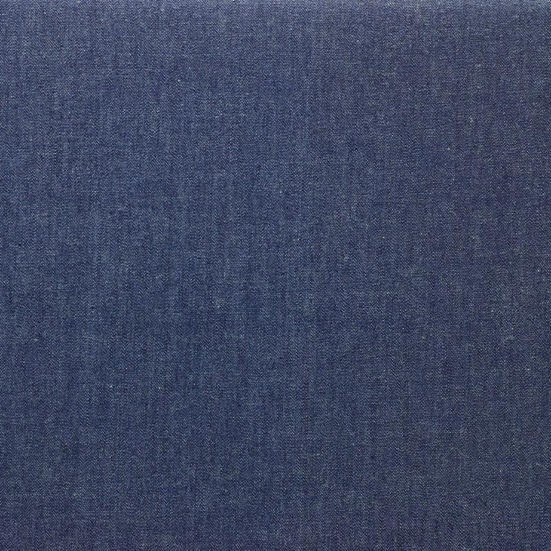 Tissu chambray de coton uni bleu denim © Eyrelles Tissus