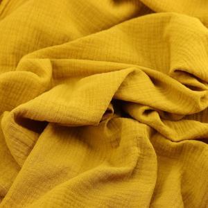 Tissus Double Gaze Ange jaune moutarde© Eyrelles Tissus