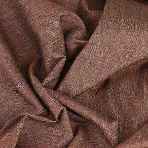 Tissu jeans denim Karl Brique © Eyrelles Tissus