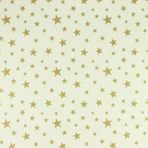 """Toile enduite polycoton """"Stars-Doré"""" l © Eyrelles tissus"""