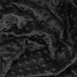 """Tissus Minky à pois """"Dolce - Noir"""" © Eyrelles Tissus"""