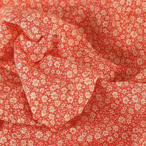 "Tissu coton imprimé ""Louisette - Rouge"" © Eyrelles Tissus"