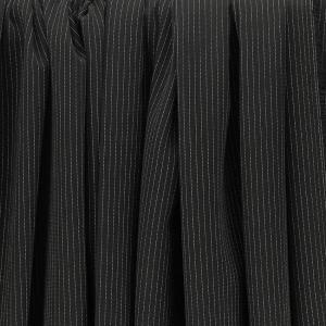 """Sergé fluide poly-viscose """"Rayure tennis noir"""" © Eyrelles tissus"""