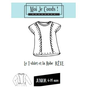 "Patron Tee-shirt et robe ""Rêve"" Patrons Moi Je Couds © Eyrelles Tissus"
