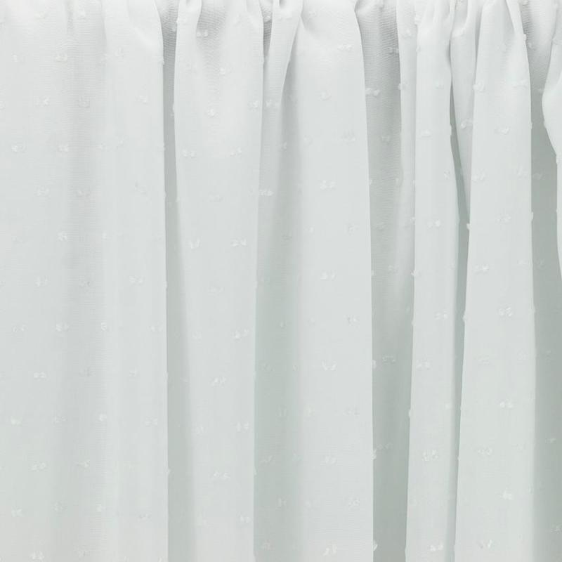 """Tissus Viscose """"Plumetis - Blanc"""" © Eyrelles Tissus"""