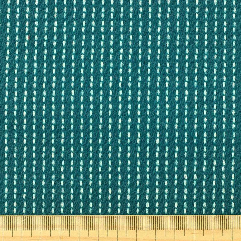 Drap de laine tissus diane Bleu Canard © Eyrelles tissus