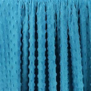 """Tissus Minky à pois """"Dolce - Bleu pétrole"""" © Eyrelles Tissus"""
