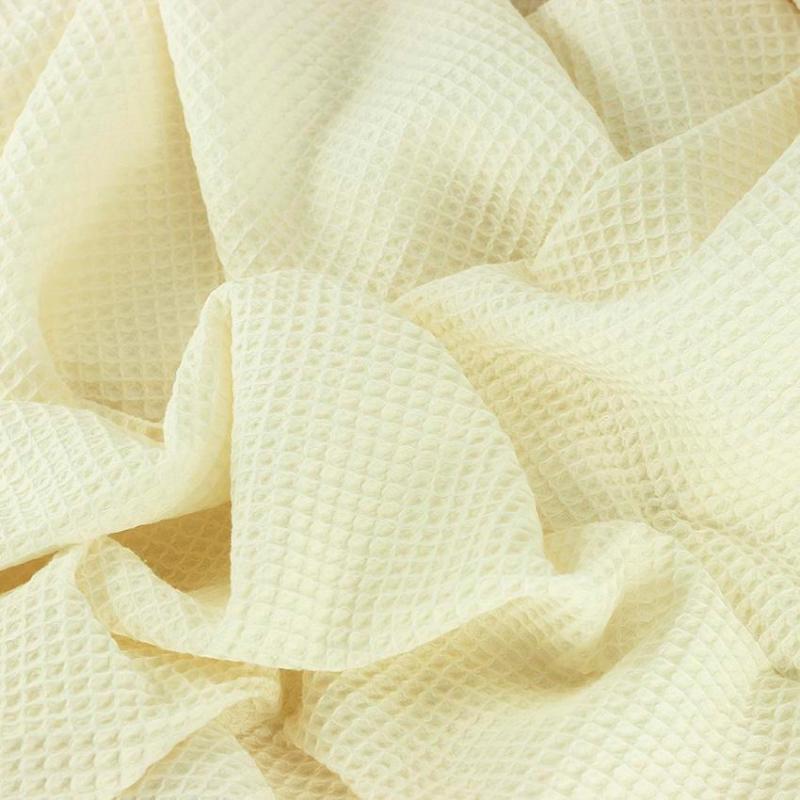 Tissus Nid d'Abeille oeko tex nuage blanc cassé © Eyrelles Tissus