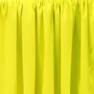 Tissu Emma 100 % Coton Uni Jaune Fluo © Eyrelles Tissus