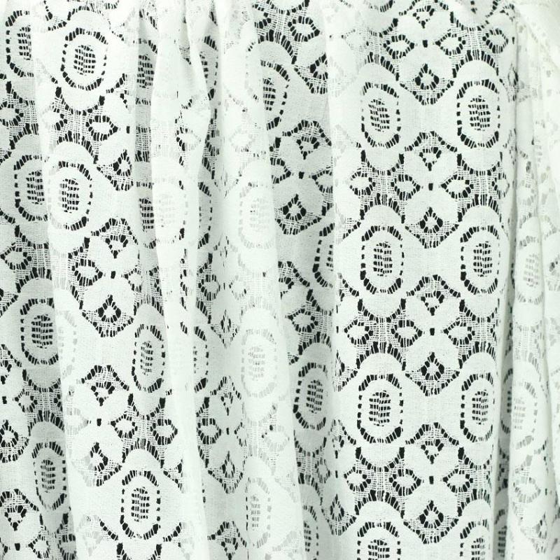 tissu dentelle de coton blanc Alexia © Eyrelles Tissus