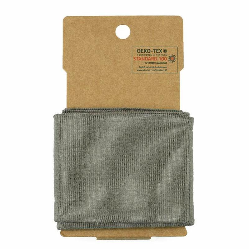 bord côte élastique Oeko Tex Uni classique - Taupe ©Eyrelles Tissus