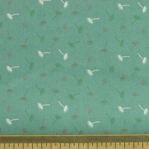 """Tissu coton imprimé """"Pissenlit - Vert"""" © Eyrelles Tissus"""