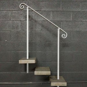 Handrail for Stairs With In-Ground/Core Drill Posts