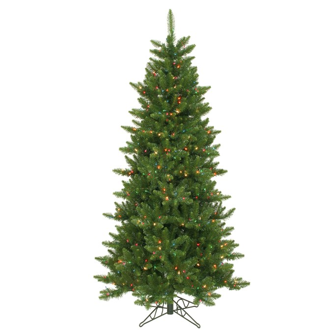 6.5ft Slim Artificial Christmas Tree Clearance Sale