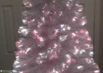 6 foot white fiber optic christmas tree