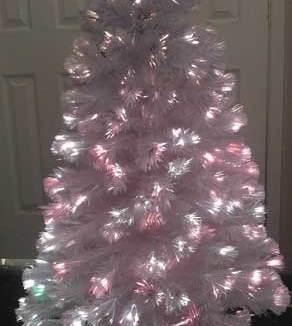 957c52747 6 Foot White Fiber Optic Christmas Tree