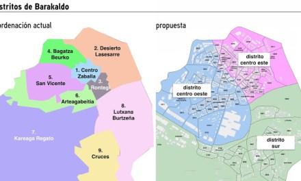 El equipo de Gobierno propone reducir a tres los distritos en que se divide el municipio