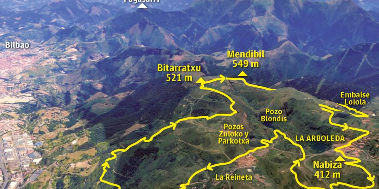 Alto Mendibil (549 m.) y Bitarratxu (521 m.)