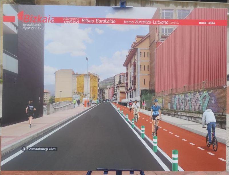 De Bilbao a La Arena y Artzentales en bidegorris seguros para 2023