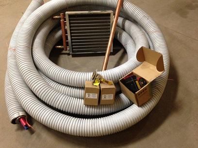 outdoor wood furnace pex water line