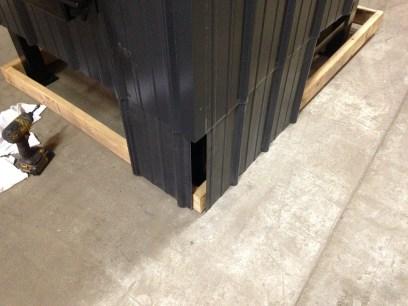 outdoor boiler skirting bottom edge