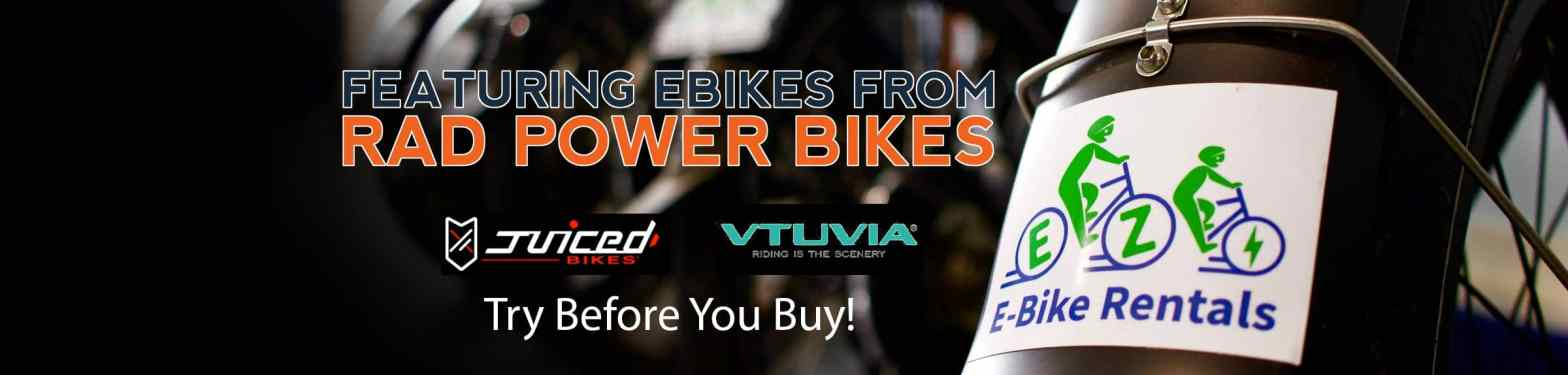 EZ E-Bike Rentals - For Sale Header