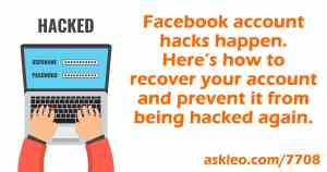 Facebook Hacked? What You Need to Do NOW! – Ask Leo!