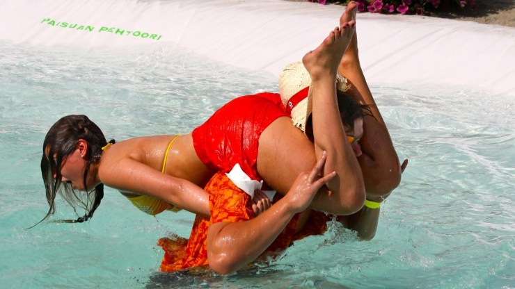 weird sports of wife carrying