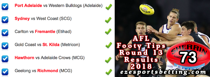 AFL Round 13 2018 Results