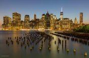 New-York Skyline bei Nacht
