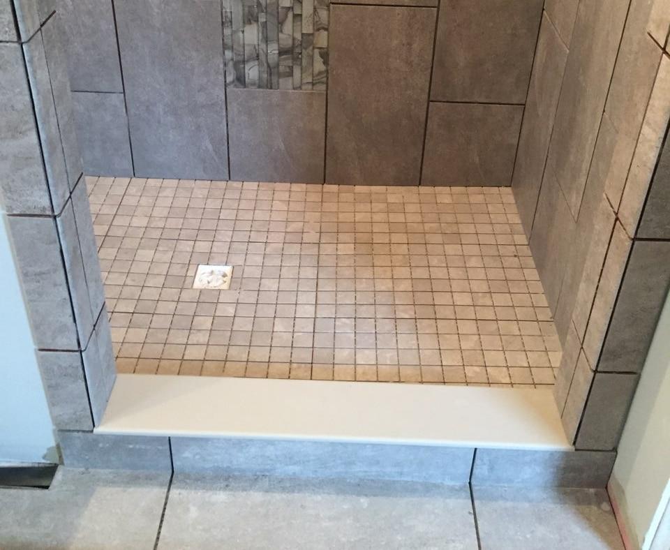 tiled shower floor 1